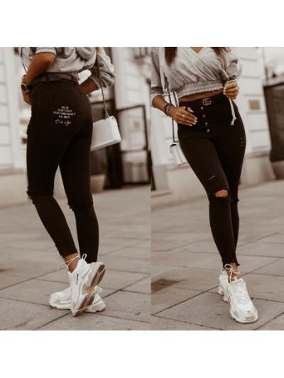 spodnie skinny czarne s