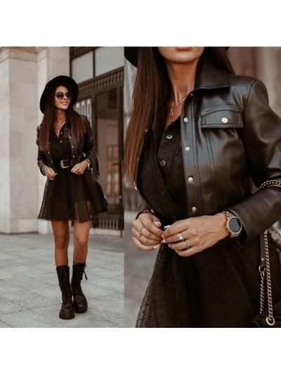 kurtka leather black s
