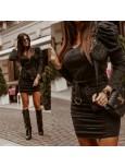sukienka black denim czarna m