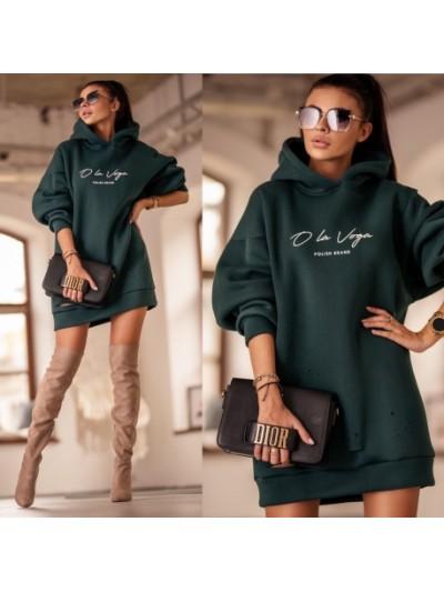 bluzo sukienka brooklyn zielona