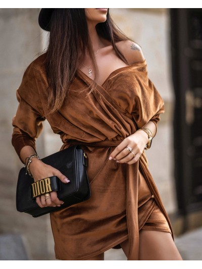 SUKEINKA SHIRT DRESS CAMEL