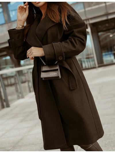 płaszcz collar s czarny