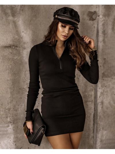 sukienka zipp czarna