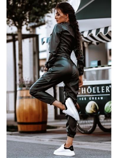 komplet leather black s/m