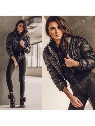 kurtk short jacket czarna s