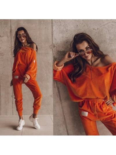komplet velour orange