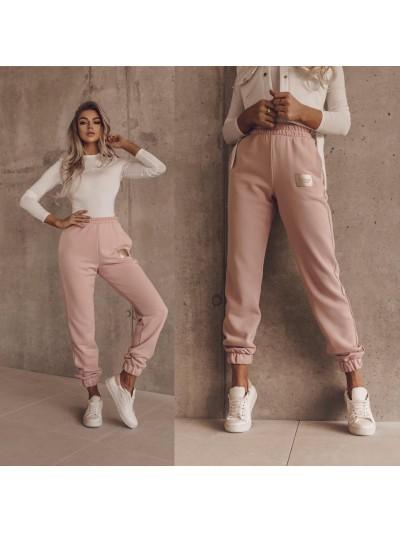 spodnie sporty look różowe s