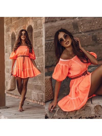 sukienka hot summer orange s
