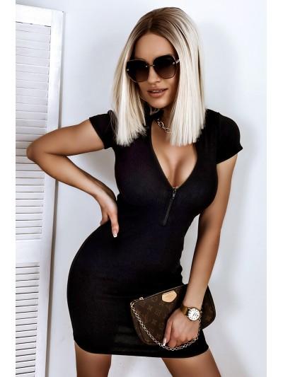 sukienka zipp czarna xs/s