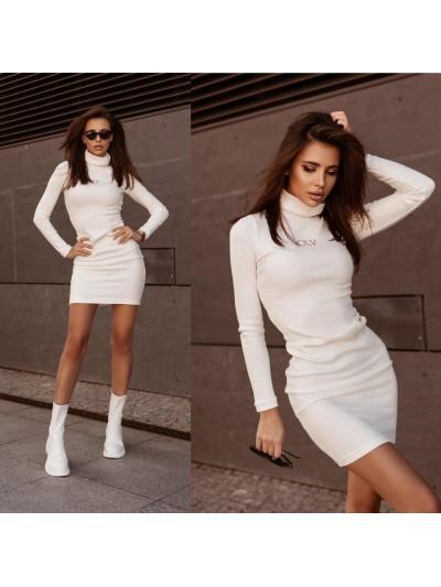 sukienka soft elegance ecru m