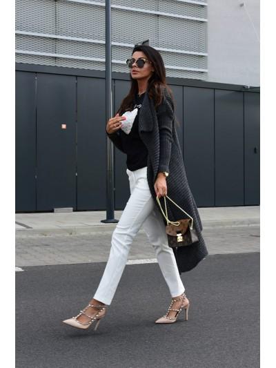 spodnie eleganckie biała